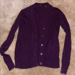 Moda international Purple Silk/Cashmere Cardigan